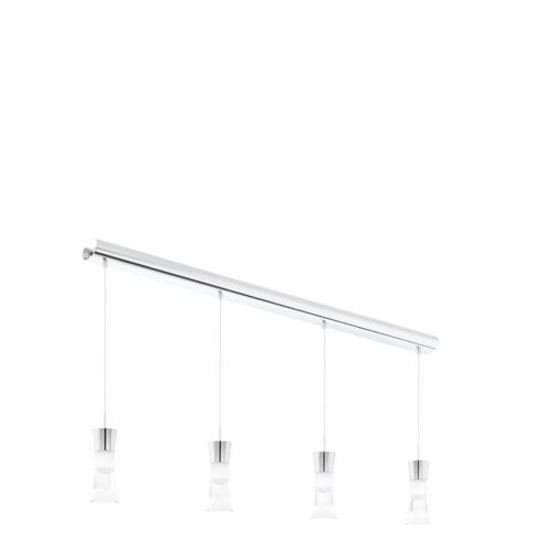 EGLO PANCENTO LED 4 Hanging Light Chrome Clear Satinated Shade