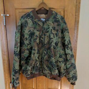 Vintage Gander Mountain Camo Advantage Camouflage Jacket Coat Men's XL