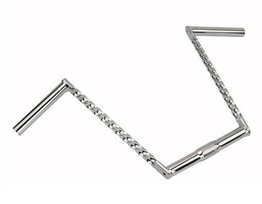 New   Double Square Twisted Lowrider Bike Handlebar 12  25.4mm Chrome 169-541  the most fashionable