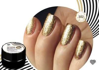 gold flakes shine gel polish chrome like luxio for nail