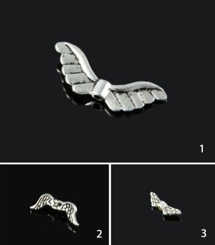 p-20 Perles métal perles entre perles engelsflugel Brahman spacer argent couleurs
