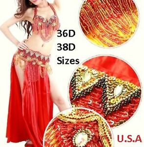 Details about Belly Dance Costume 2pc Set USA Fast Shipping Large PLUS SIZE  HALLOWEEN