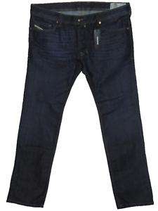 BNWT Diesel SAFADO 0844C Reg Slim Straight W38 L32 Mens Dark bluee Denim Jeans