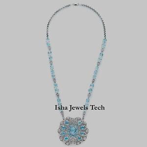 Blue Topaz /& Natural Diamond Dragonfly Pendant 14k Gold Over 925 Sterling Silver