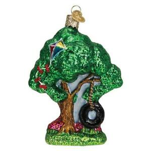 Old-World-Christmas-TIRE-SWING-36267-N-Glass-Ornament-w-OWC-Box