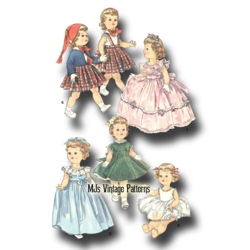"Play Clothes Pattern ~ 22/"" 23/"" Saucy Walker Vintage Toddler or Baby Doll Dress"