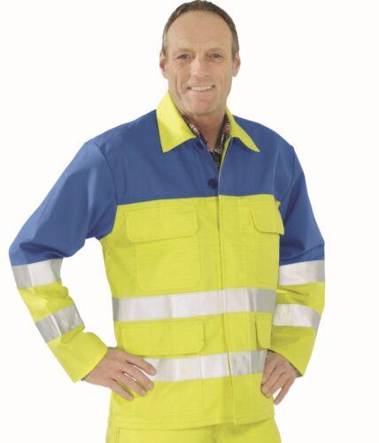 5202 Major Protect Signal Jacke Planam Gefahrenschutz Jacke  gelb kornblau  NEU