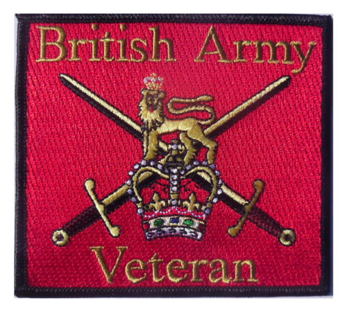 HM Forces Veteran patch British Army Veteran Iron or sew on patch
