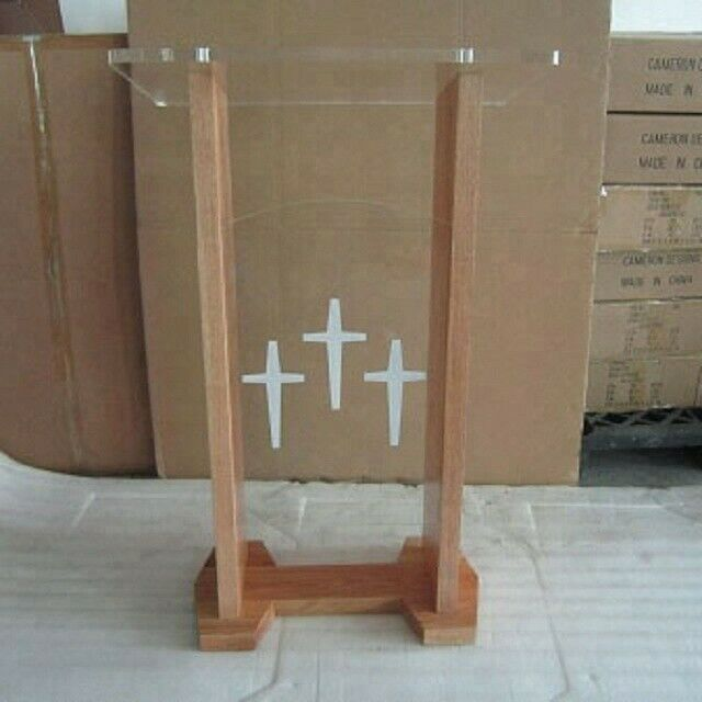 Wood And Perspex Lecterns
