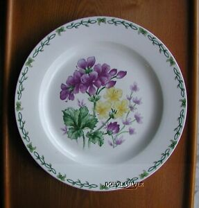 THOMSON-FINE-CHINA-12-034-ROUND-SERVING-PLATTER-PELARGONIUM-GERANIUMS