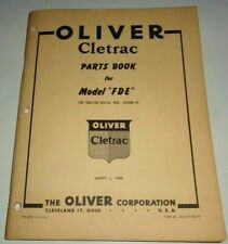 Oliver Cletrac Fde Crawler Tractor Parts Catalog Book Original August 1949