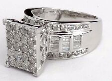 10K White Gold large Women Diamond Engagement Bridal Wedding Ring wedding 2ct