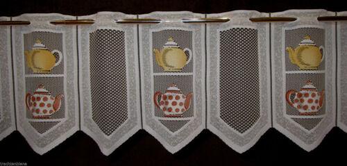 Küchengardine Scheibengardine Teekanne Teehaus Bistro 8 Breiten Kurzgardine