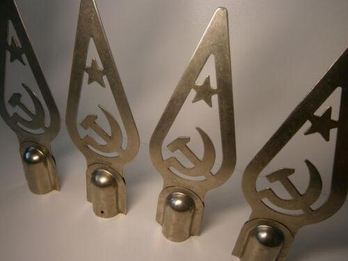 Vtg Soviet Flag Pole Topper Communist Star Hammer /& Sickle Finial Ornament 1960s