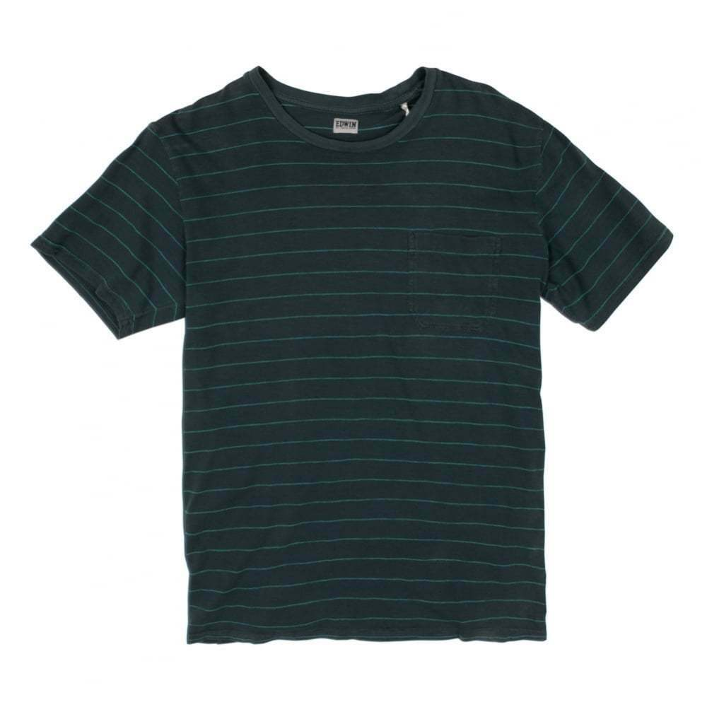 Edwin Denim Marvin bluee Striped T-Shirt