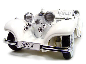 1936 Mercedes 500 K Special Roadster White 1 18 Diecast