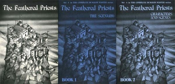 THE FEATHERED PRIESTS EXC  BOOK 1 2 Screen COMPLETE DUNGEON MASTER SERIES Guide