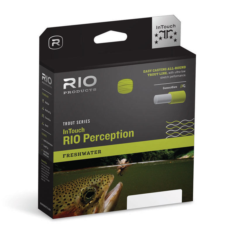 RIO IN TOUCH PERCEPTION WF6F  6 WEIGHT FWD FLOATING FLY LINE verde CAMO TAN