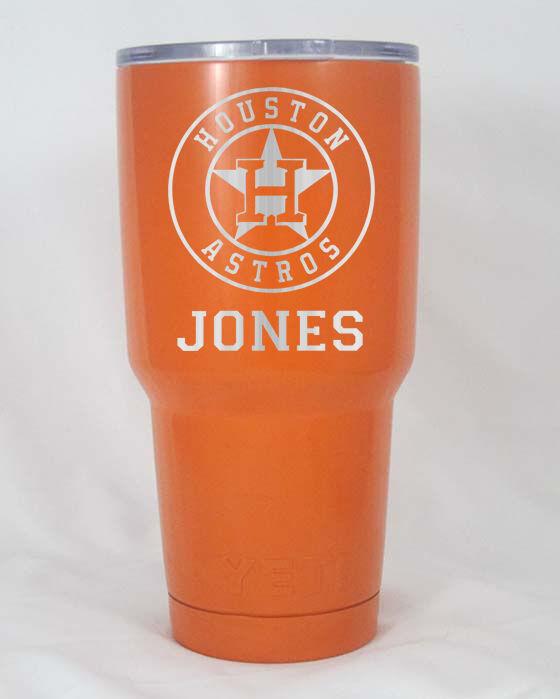 Yeti Rambler 30 oz cup tumbler engraved  Houston Astros personalized free ship