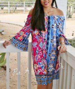 2X Pink Plus Size Flounce Off the Shoulder Floral Dress Size 1X /& 3X