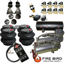 """Air Suspension Kit 3/8"""" Valve 7 Switch Pewter 1958-64 Chevy Impala xzx"""