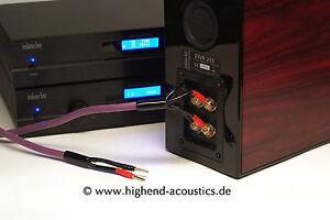melodika Highend Lautsprecher Kabel bi-Wiring 2x3 m 24 Kt vergoldete ...