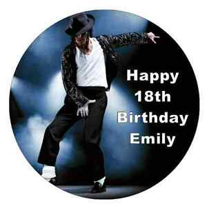 Image Is Loading Michael Jackson Personalised Cake Topper 7 5 034