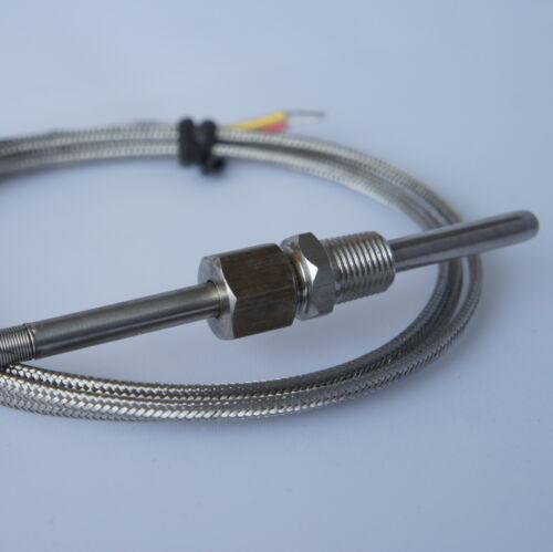 "EGT. 3 Meter J-Type Thermocouple Temperature Probe 1//8/"" NPT Fittings"