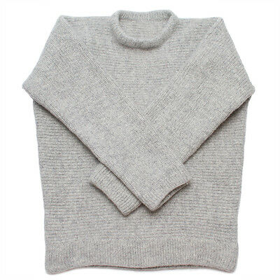 100% Austriaco Lana Dachstein Woolwear Spesso Boiled Lana Maglione Equipaggio