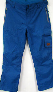 New-Mens-Outdoor-Snowboard-Pants-Ski-Pants-Petrol-Blue-Large-Size-L-XL-50-52