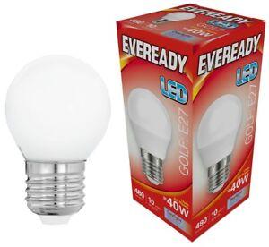 Eveready-6w-40w-Golf-LED-Lampe-Boule-Vis-Edison-Es-Blanc-Jour-6500k