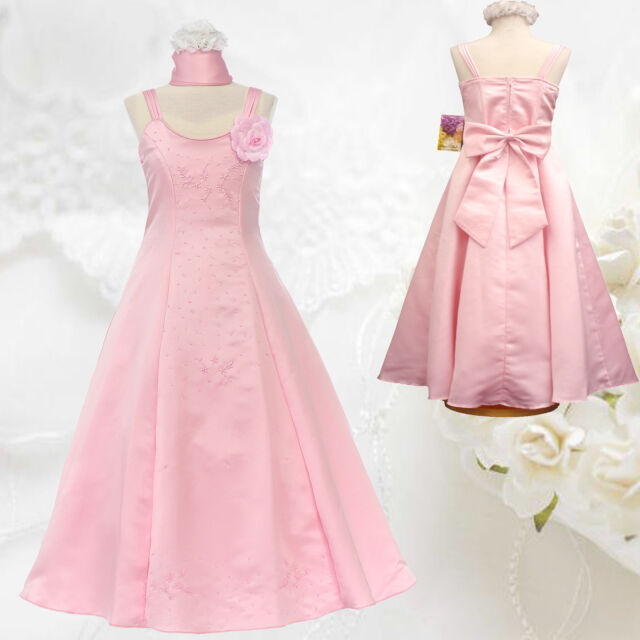 New Girl National Easter Pageant Wedding Formal Party 2PC PINK Dress sz 8 10 12