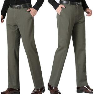 Men/'s winter Thermal jeans fleece lined Denim Pants cotton Warm Trousers