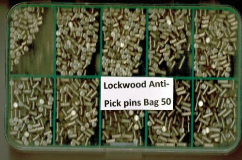 Lockwood Anti Pick Top Pins Bag 50 BNIB RARE FREEPOST