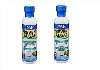 API PREVENT ALGAE AQUARIUM FISH TANK ANTI-ALGAE TREATMENT 237 ML TWIN PACK