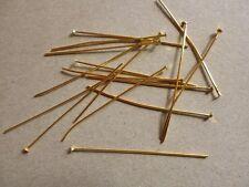 100 Stück Nietstifte Kopfstifte Kettelstifte – 50 x 0,7mm – goldfarben –