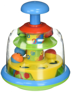 Spinning-Popping-Pals-Baby-Spinning-Balls-Learning-Activity-Top-Toy-New