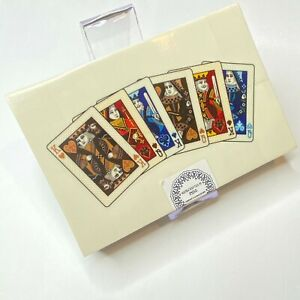 Vintage-Playing-Card-Set-w-Handcrafted-Wood-Box-Storage-Case-NEW