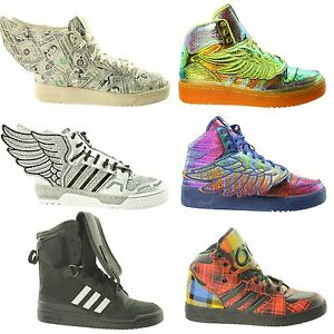 a61259a616d1 Image is loading Mens-adidas-Originals-Jeremy-Scott-Boots-Wings-Tall-