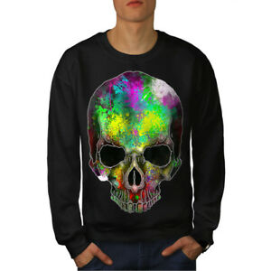 Sugar New Men Colorful Rock Skull Black Felpa txwqgXCI