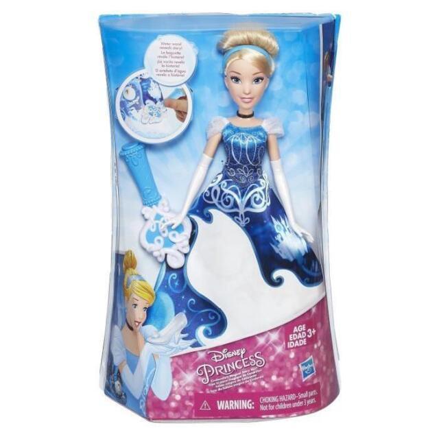 DISNEY Poupée CENDRILLON robe magique Hasbro bleu NEUVE