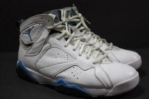 half off 4a6f1 bc252 Nike Air Jordan 7 Retro Sz 11.5 White French Blue Grey DS VII Carolina for  sale online | eBay