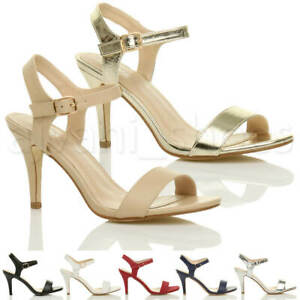 WOMENS-LADIES-HIGH-HEEL-BUCKLE-STRAPPY-BASIC-BARELY-THERE-SANDALS-SHOES-SIZE