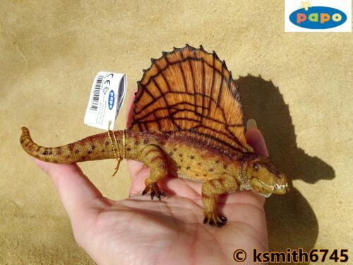 Papo DIMETRODON solid plastic toy Jurassic DINOSAUR Prehistoric animal  NEW
