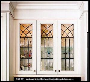 Heritage Lead glass Cabinet  /& Kitchen  door inserts