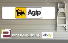Agip gasolina Banner para taller, garaje, aceite combustible Pit Lane, Motorsport