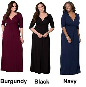 f70c92751b Image is loading Plus-size-Maxi-dress-Plus-size-womens-Evening-