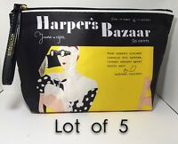 Lot Of 5 Estee Lauder Signature Cosmetic Bag Satin Harper's Bazaar