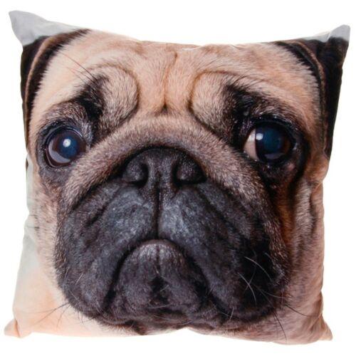 MOUSEMAT Shudehill PET LOVER PUG//ANIMAL PRINT VELOUR VISAGE CUSHION LARGE MUG