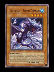 Mint Near Mint Condition YUGIOH Card Cloudian Storm Dragon